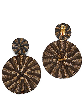 MERCEDES SALAZAR Dol Soles Ceniza Gold-Plated Bronze And Raffia Earrings H Project Multi