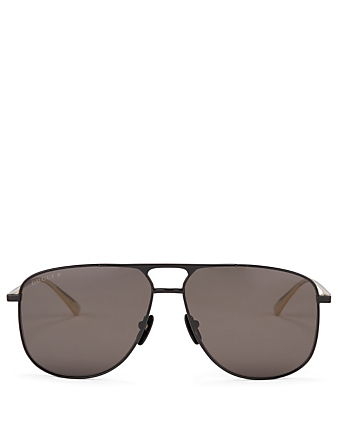 GUCCI Aviator Sunglasses Men's Black