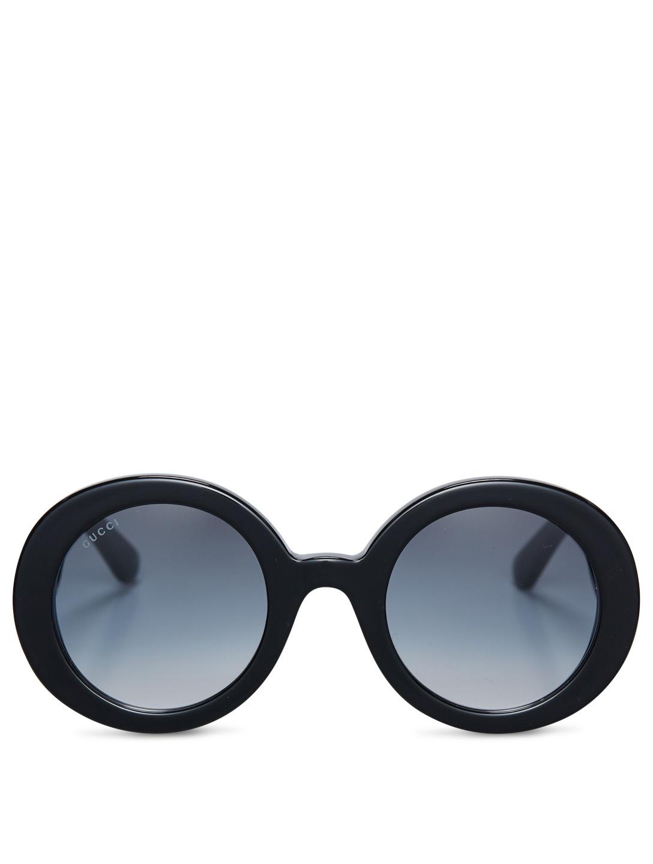 2c2b79b04081 GUCCI Oversized Round Sunglasses Women's Black ...