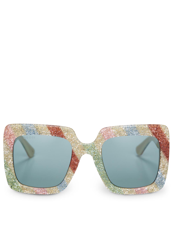 bca1017ba0 GUCCI Oversized Square Sunglasses Women s Silver ...