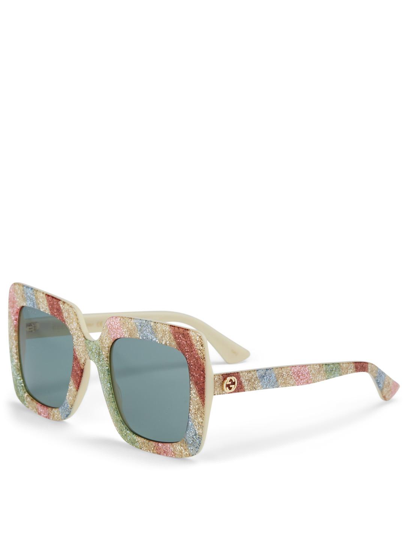 7681ee1514 ... GUCCI Oversized Square Sunglasses Women s Silver