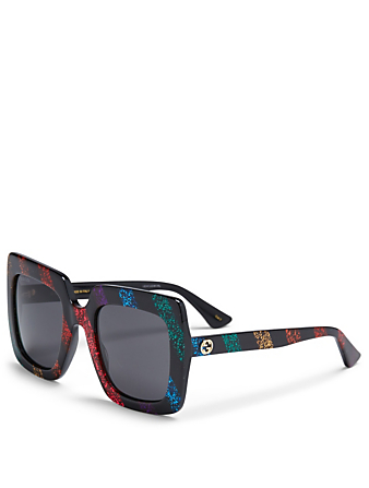 GUCCI Oversized Square Sunglasses Womens Multi