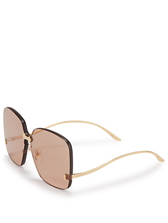94bc4b60c99 ... GUCCI Rimless Oversized Square Sunglasses Women s Gold