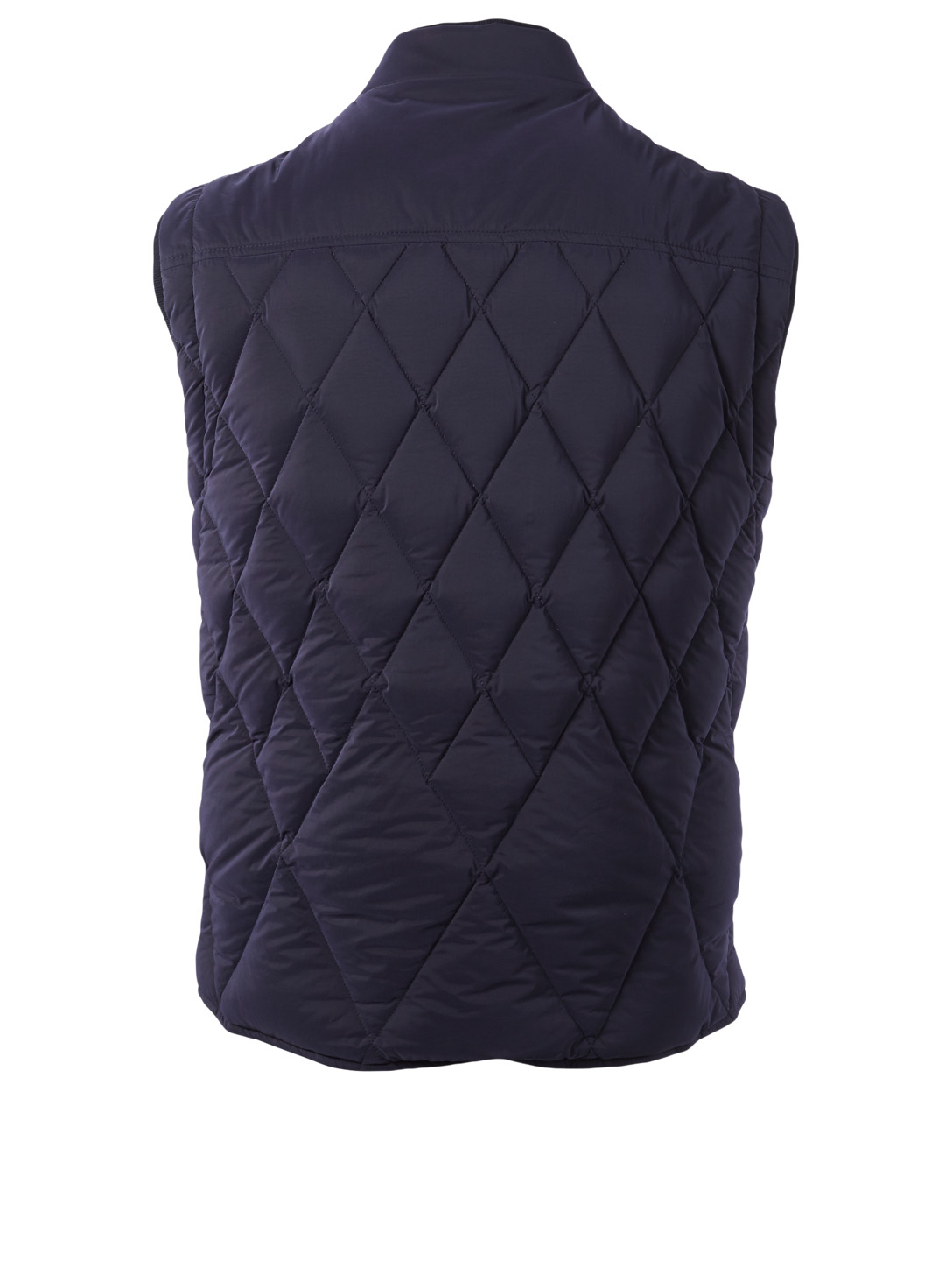 ZEGNA Quilted Microfibre Vest Men's Blue