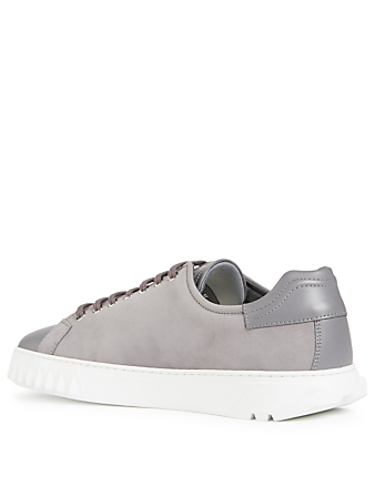 SALVATORE FERRAGAMO Cube Leather Sneakers Men's Grey