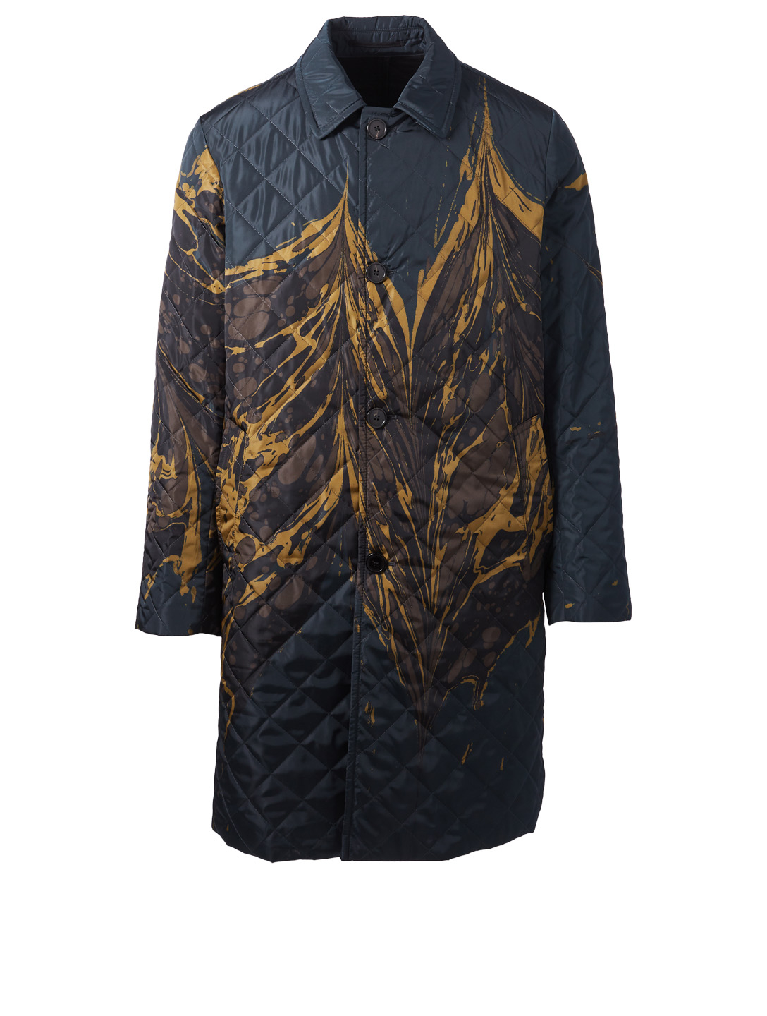 DRIES VAN NOTEN Rotary Printed Coat Men's Blue