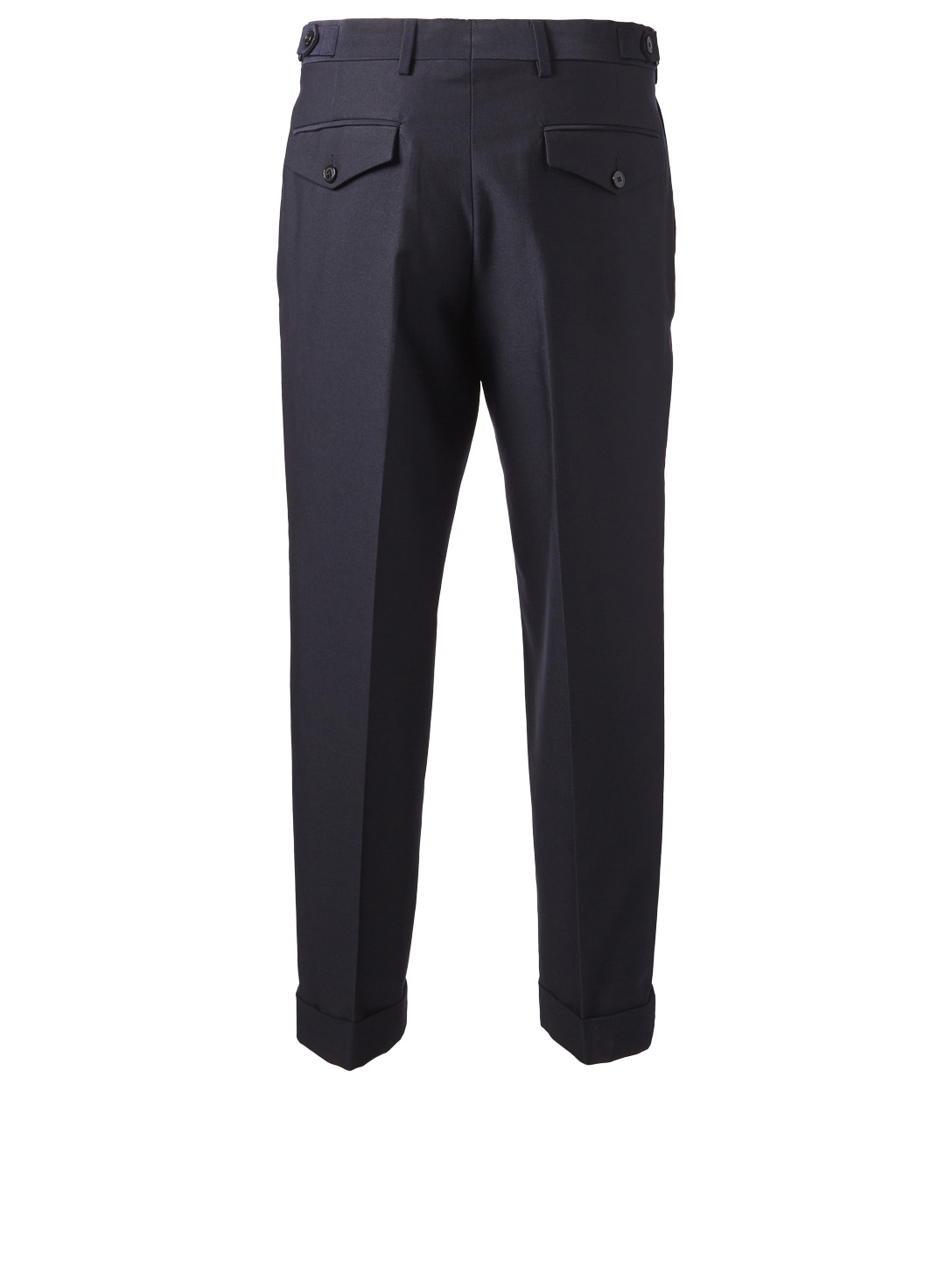 DRIES VAN NOTEN Philip Wool Twill Pants Men's Blue