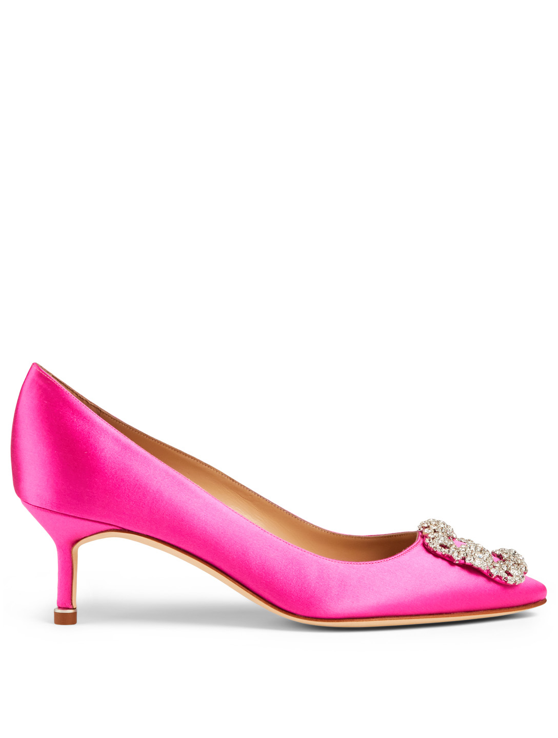 MANOLO BLAHNIK Hangisi 50 Satin Pumps Women's Pink