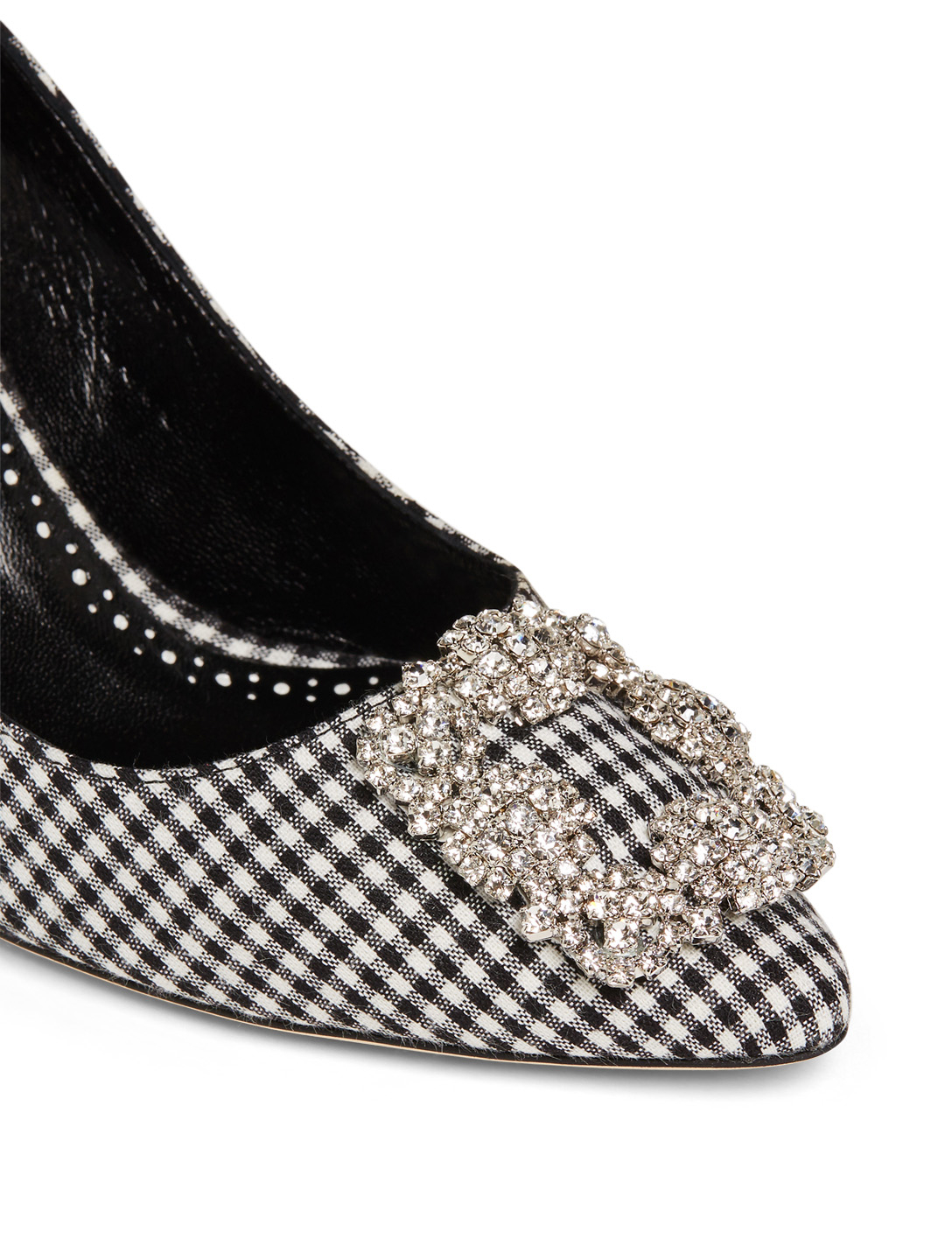MANOLO BLAHNIK Hangisi 70 Gingham Pumps With Crystal Embellishment Women's Multi