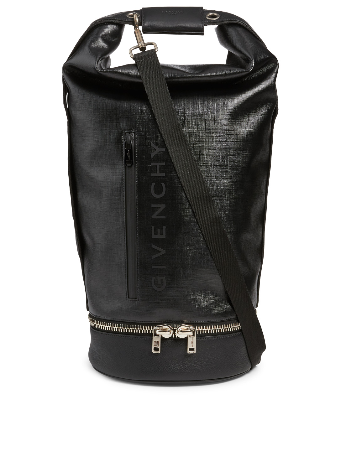 43727319f7 GIVENCHY Large Jaw Hybrid Leather Backpack Men s Black ...