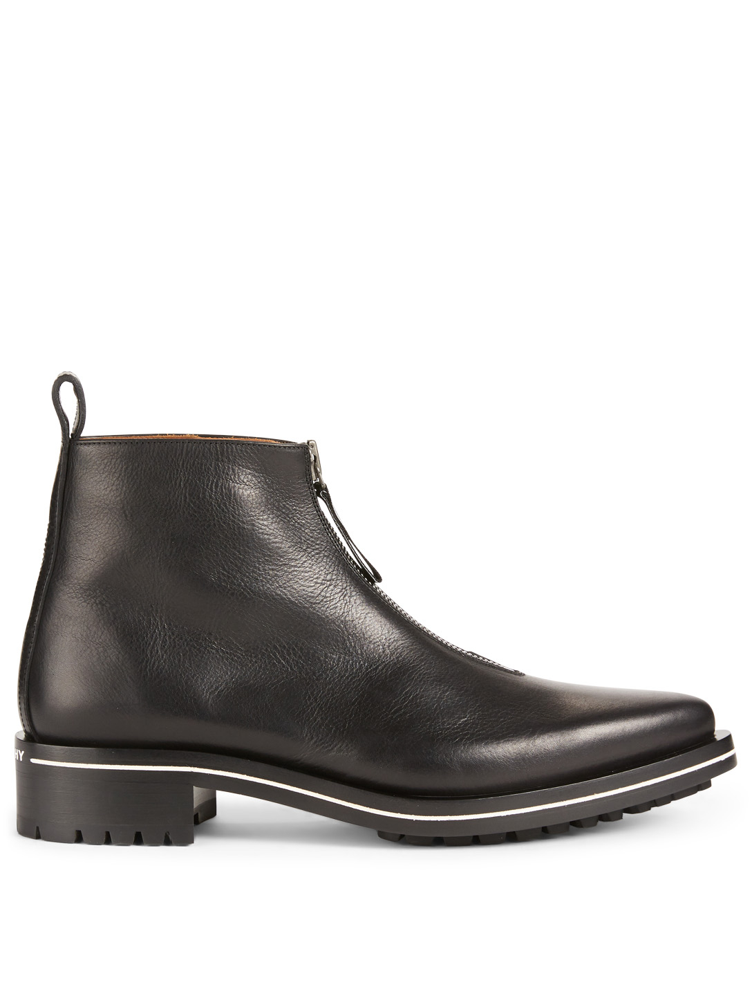 GIVENCHY Richmond Zipped Leather Boot Men's Black