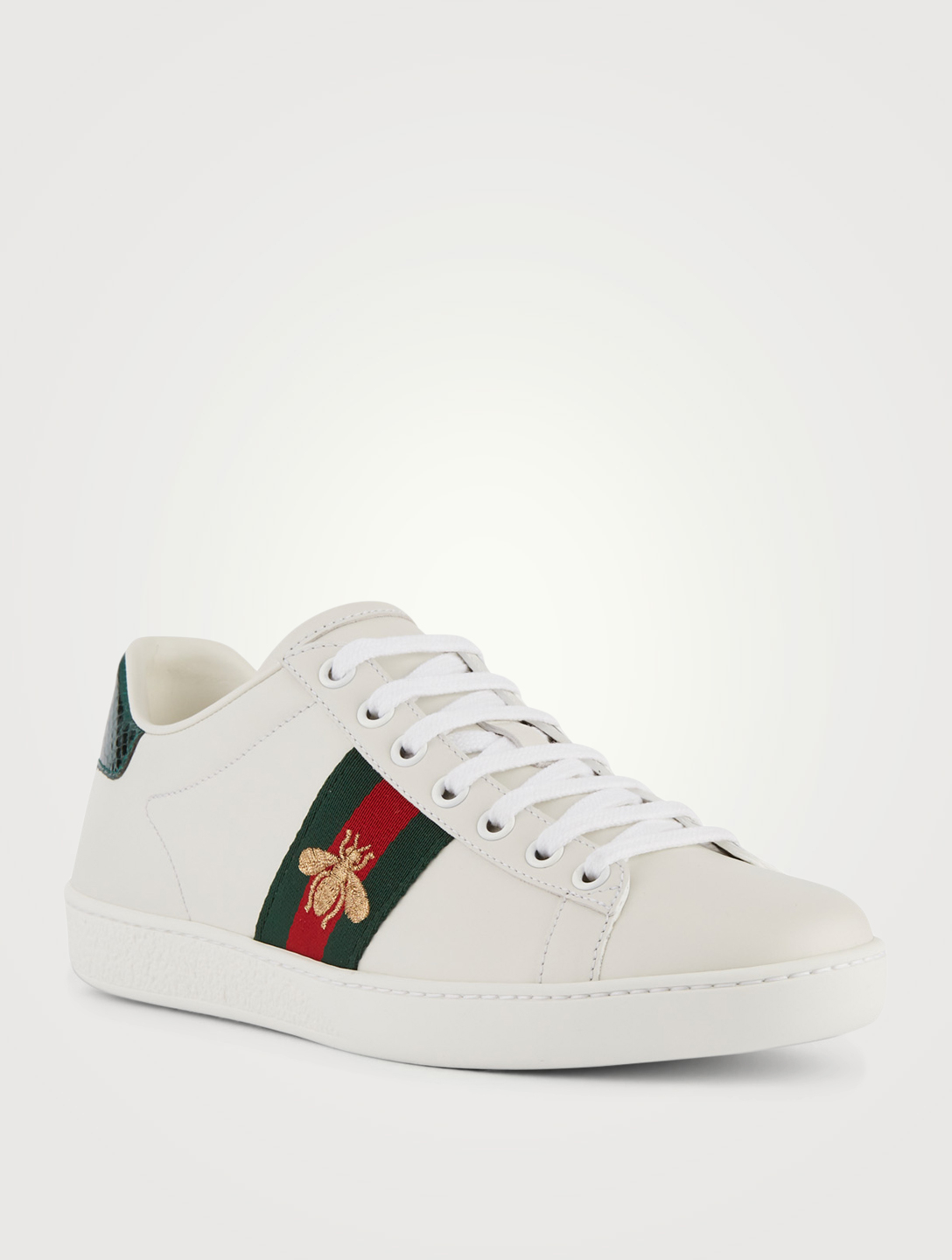 GUCCI New Ace Embroidered Leather Sneakers Designers White ... bf46b27a9d8d