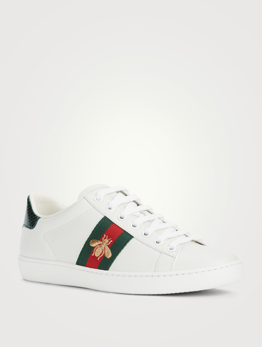 df0735247f0 ... GUCCI New Ace Embroidered Leather Sneakers Designers White ...