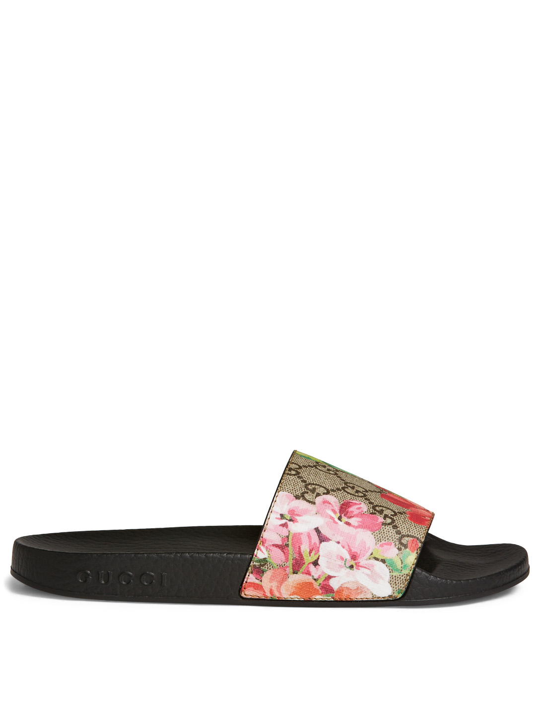 GUCCI GG Blooms Supreme Pool Slides Designers Neutral