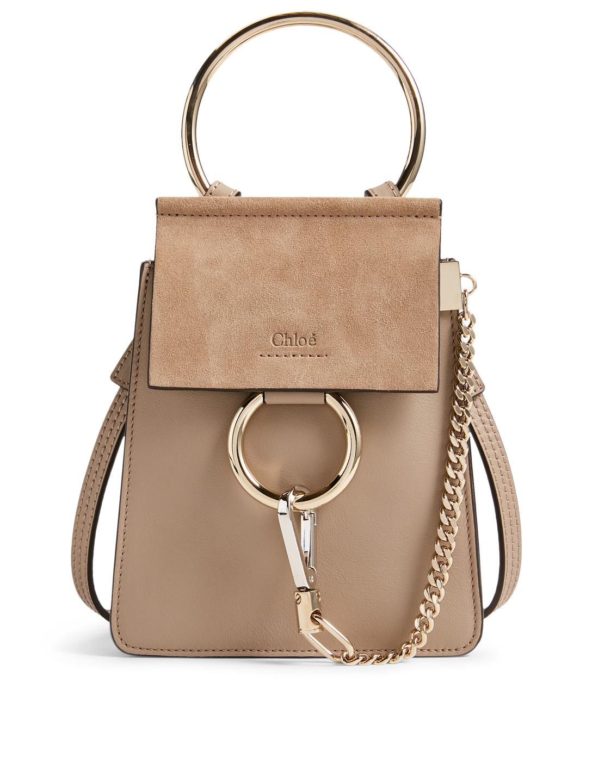 ec162a02a CHLOÉ Small Faye Leather And Suede Bracelet Bag | Holt Renfrew