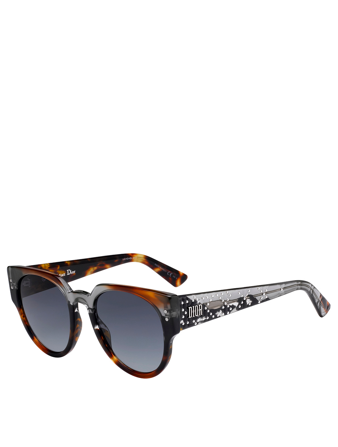 DIOR LadyDiorStuds3 Round Sunglasses Women's Brown