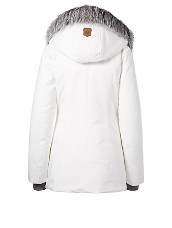 MACKAGE Adali-PX Down Coat With Fur Hood Womens White