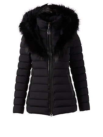 MACKAGE Kadalina-X Down Puffer Coat With Fur Hood Designers Black
