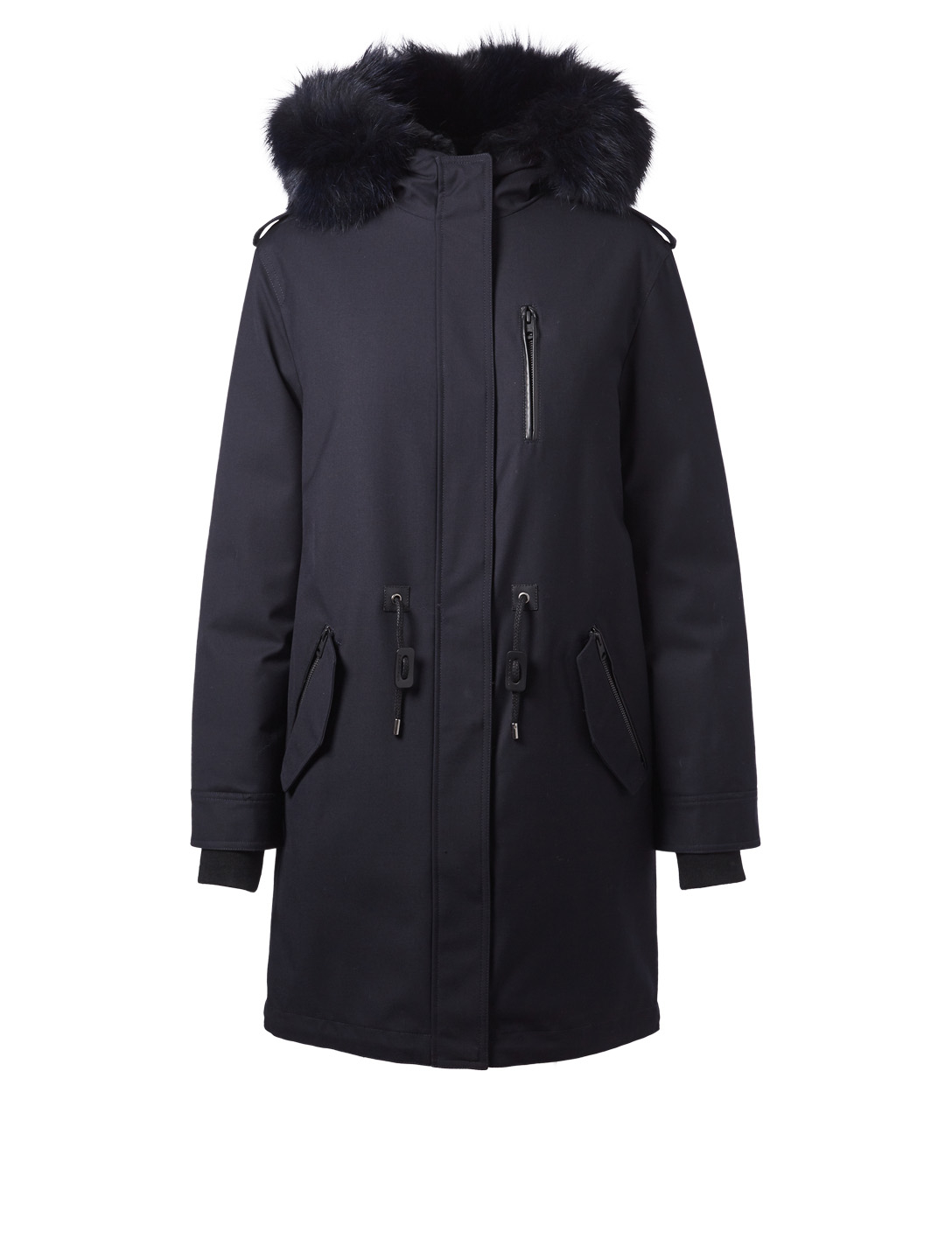 MACKAGE Rena-X Twill Parka With Fur Women's Blue