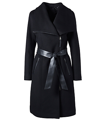 MACKAGE Nori-K Wool Belted Coat Womens Black