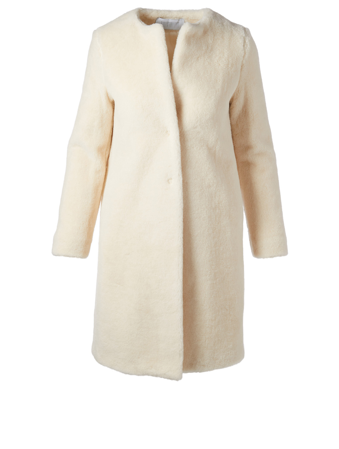 HARRIS WHARF LONDON Alpaca Blend Teddy Coat Women's White