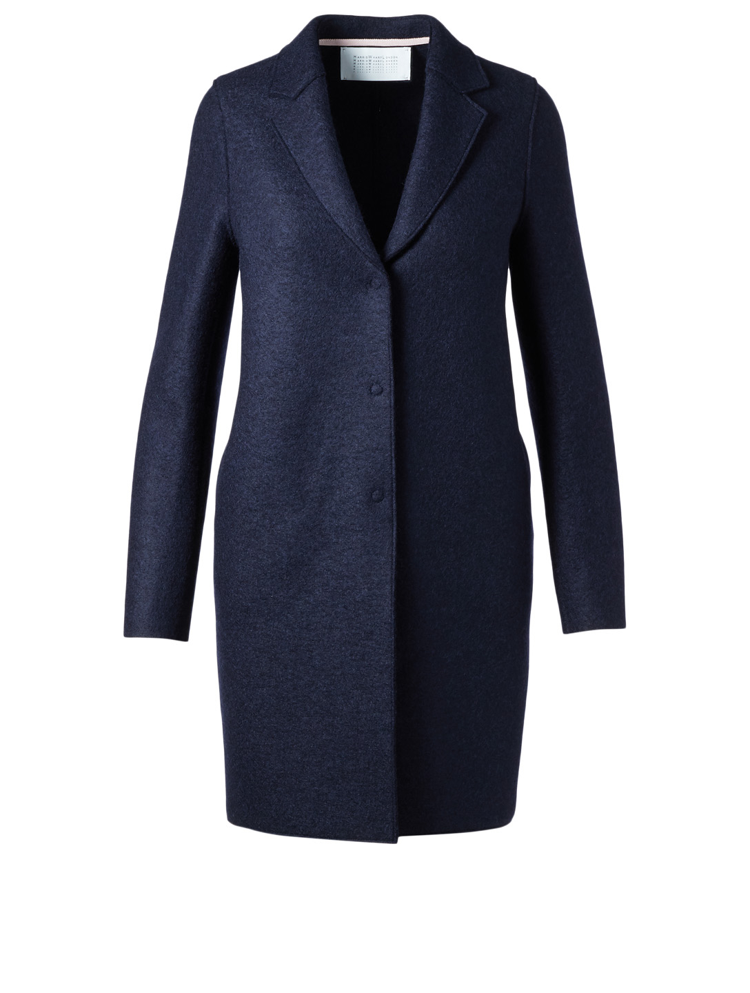 HARRIS WHARF LONDON Pressed Wool Cocoon Coat Women's Blue