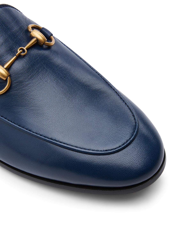 c174d90c936 ... GUCCI Jordaan Leather Loafers Women s Blue