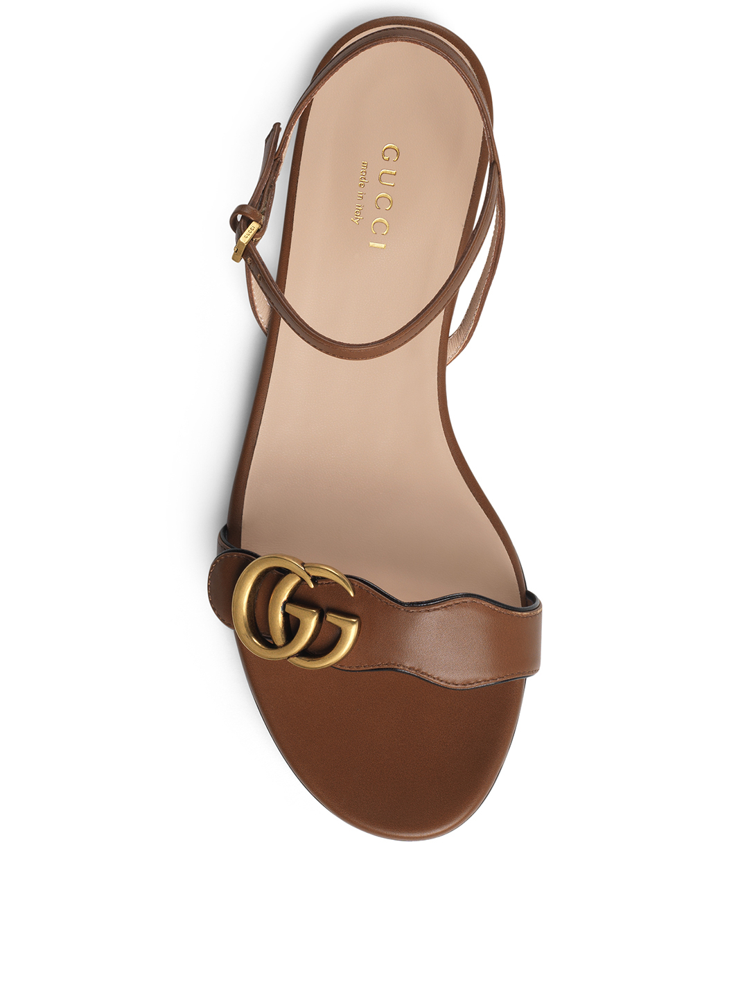 bb8d163e229 ... GUCCI Marmont Leather Sandals Women s Brown ...