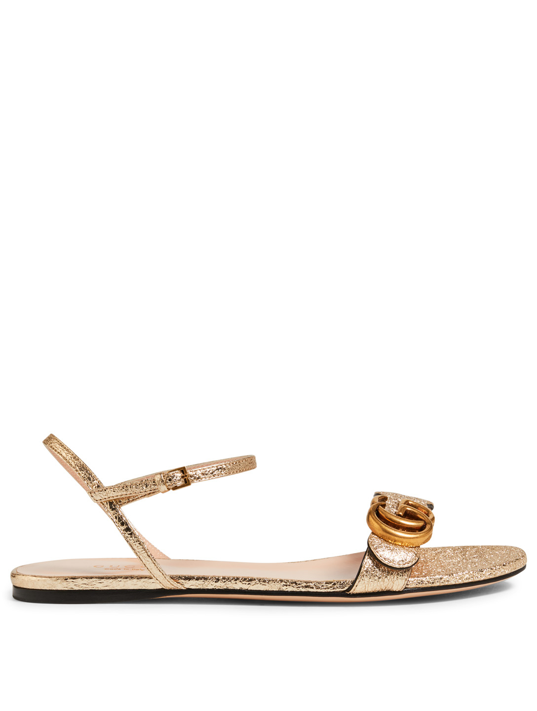 287913776e0 GUCCI Marmont Metallic Leather Sandals