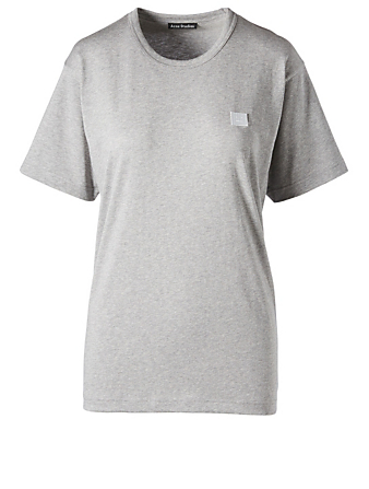 ACNE STUDIOS Organic Cotton Crewneck T-Shirt Women's Grey