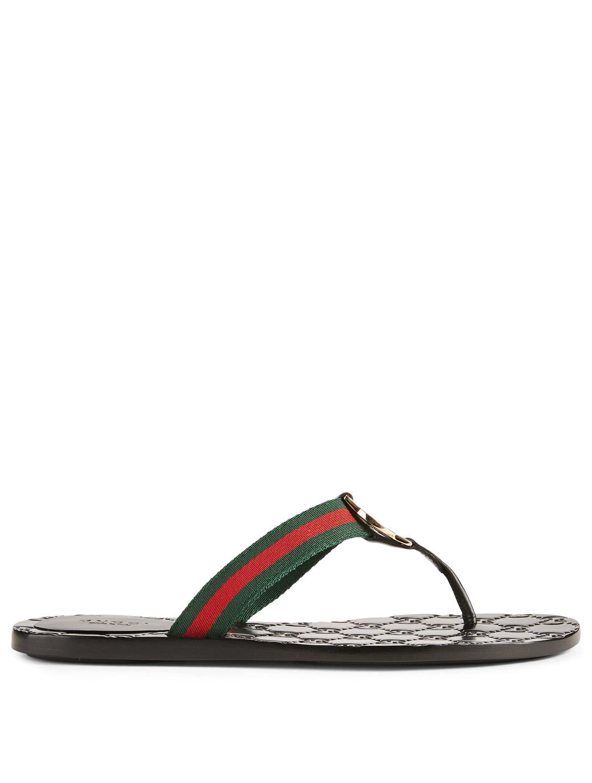 dbc922441780 GUCCI GG Web Thong Sandals