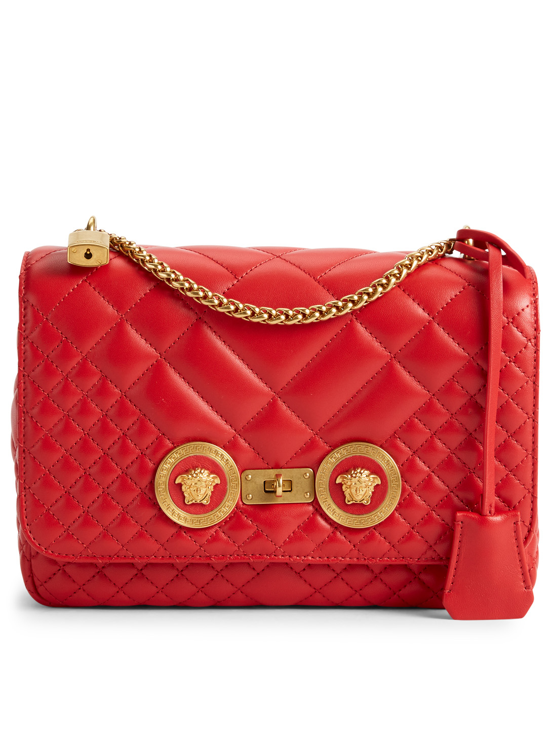 97d2237c3e VERSACE Medium Icon Quilted Leather Shoulder Bag