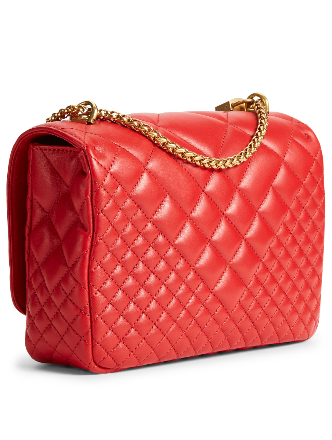 ... VERSACE Medium Icon Quilted Leather Shoulder Bag Women s ... 8f08534b53098