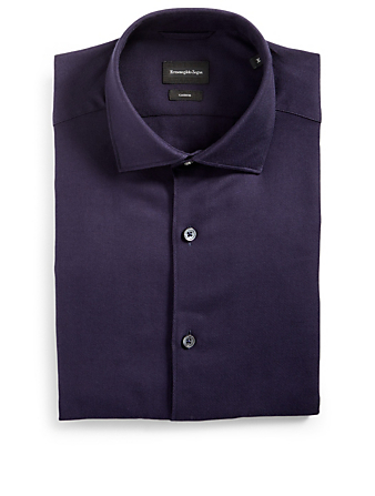 ZEGNA Cashco Button-Up Shirt Men's Blue