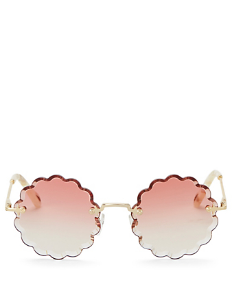 CHLOÉ Rosie Round Sunglasses Women's Red