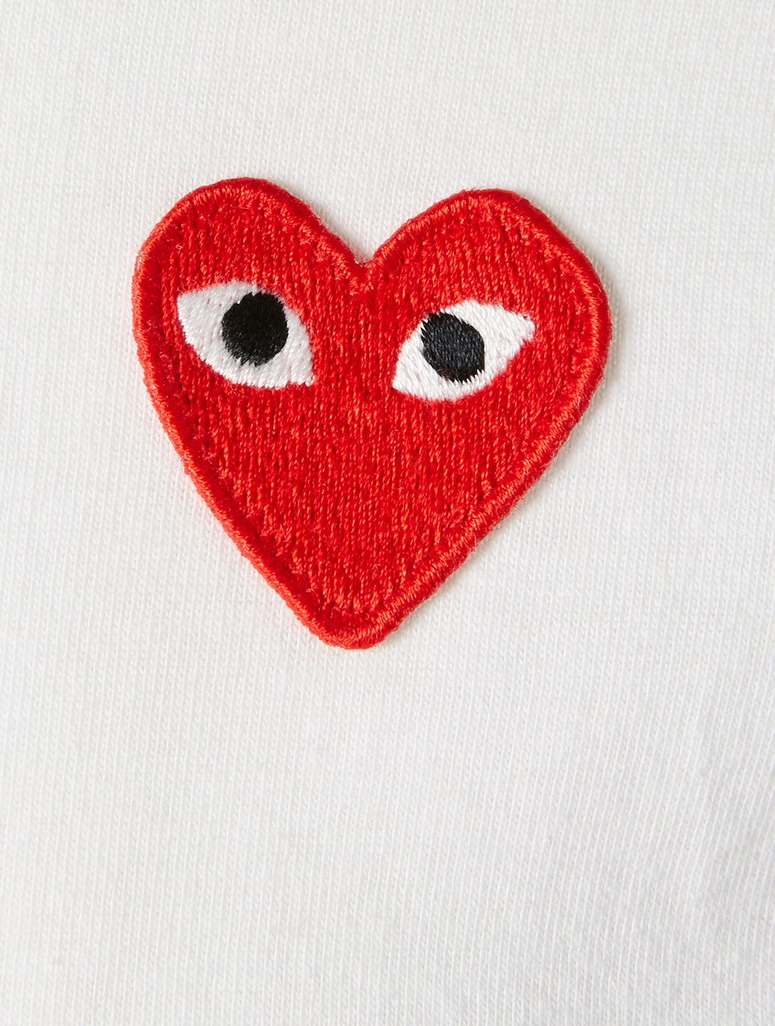 COMME DES GARÇONS PLAY Polka-Dot Heart T-Shirt Men's White