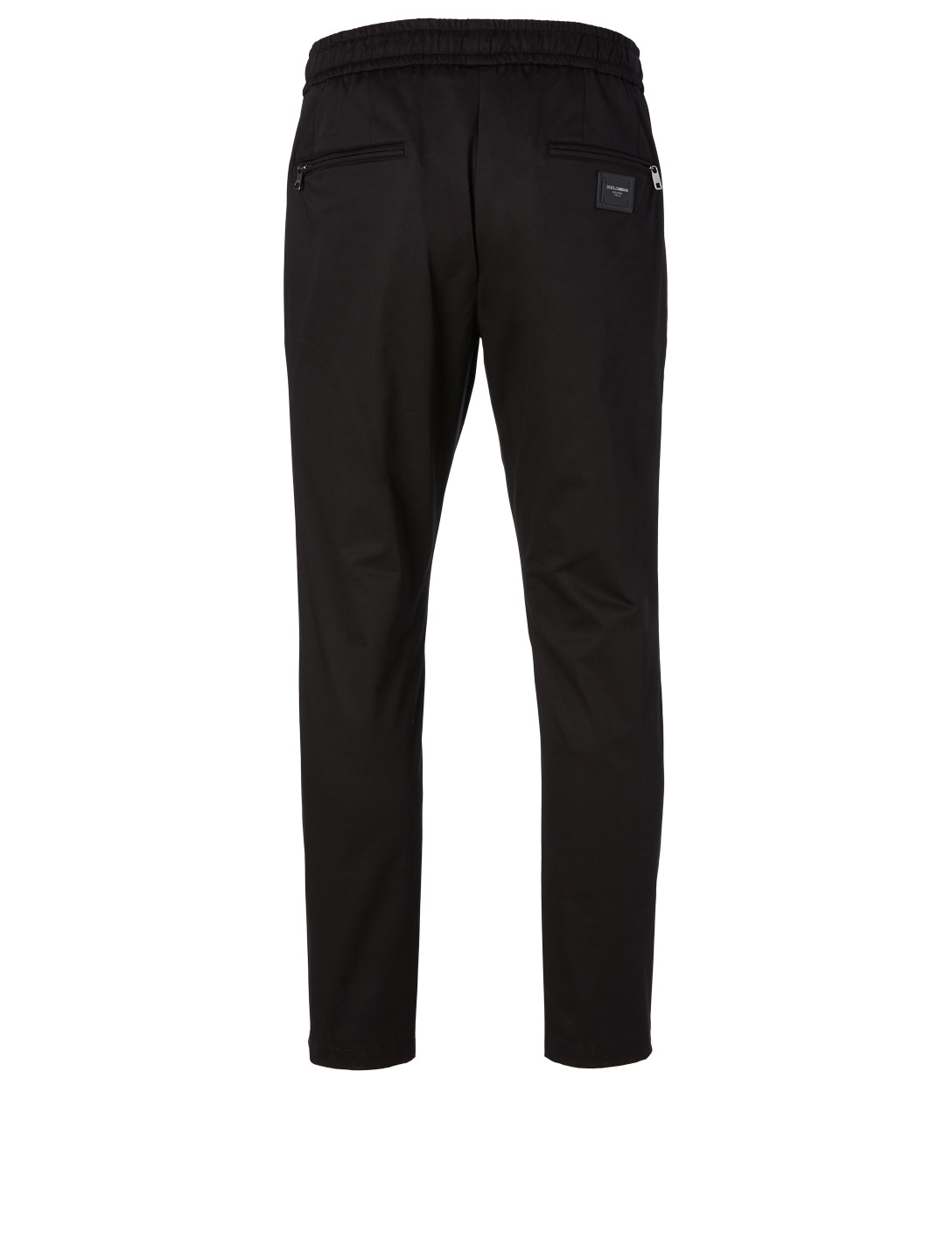 DOLCE & GABBANA Slim Drawstring Pants Men's Black