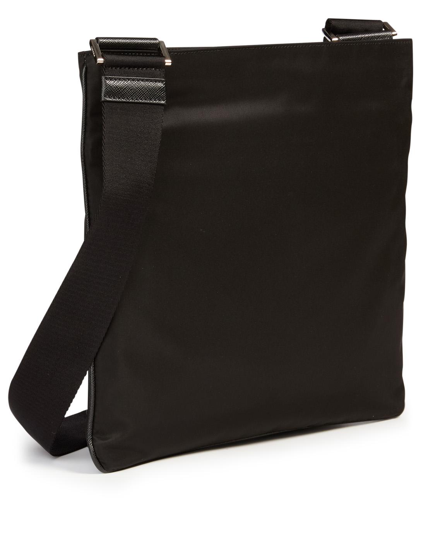 29ad82853e40 ... PRADA Nylon Logo Messenger Bag Men's Black ...