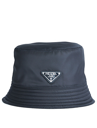 PRADA Nylon Bucket Hat Men's Black