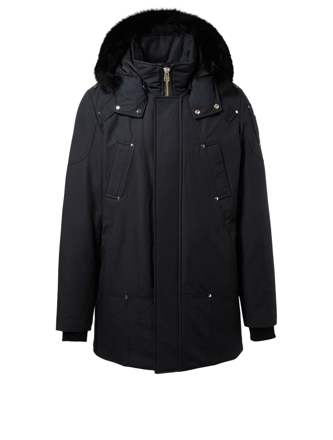 MOOSE KNUCKLES Stirling Parka With Fur Trim Men's Blue