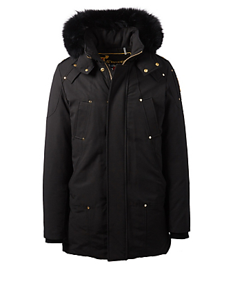 MOOSE KNUCKLES Corner Parka With Fur Trim Men's Black