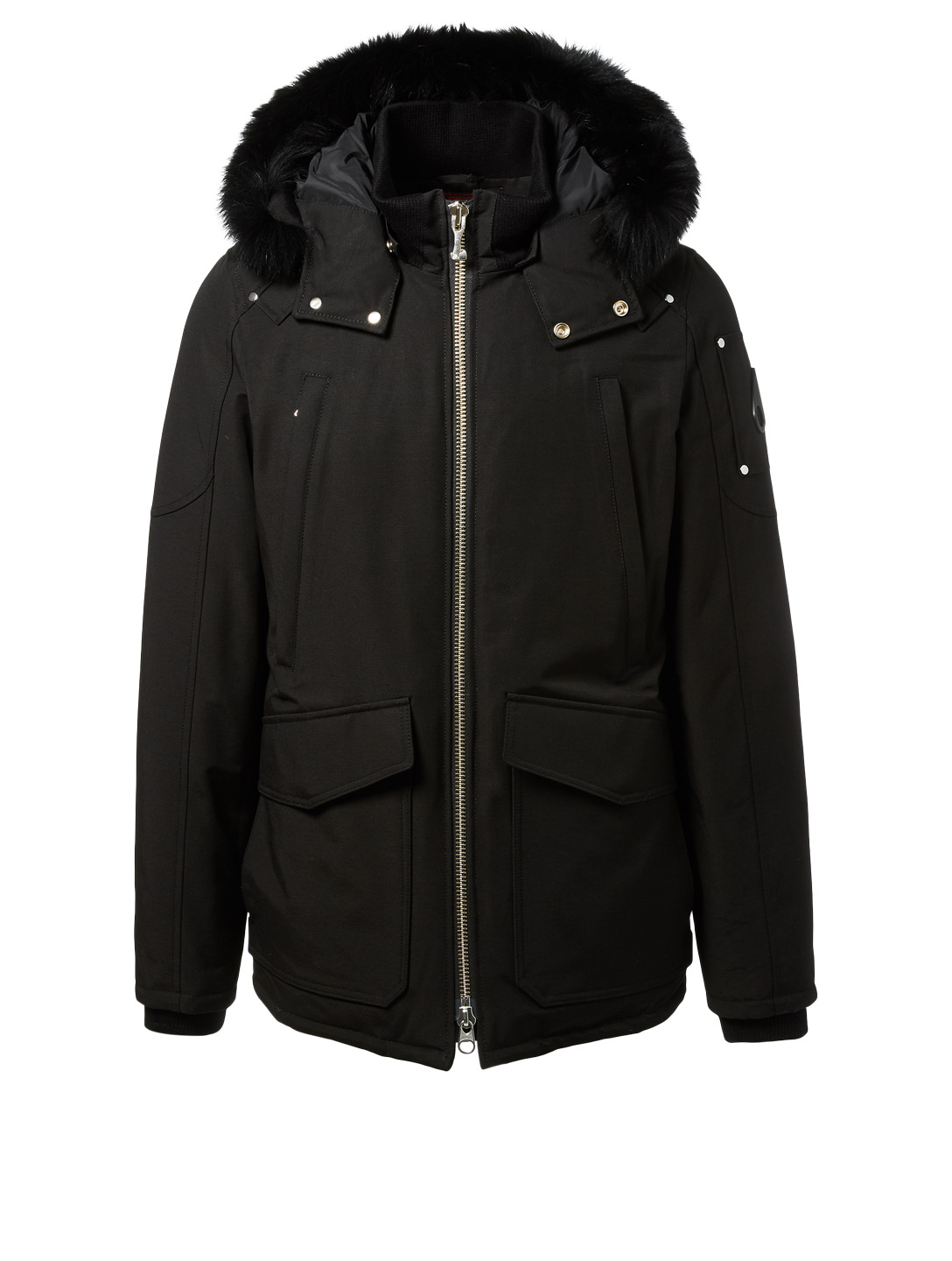 MOOSE KNUCKLES Pearson Parka With Fur Trim Men's Black