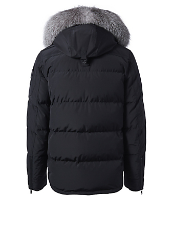 MOOSE KNUCKLES Algonquin Dufferin Parka With Fur Trim Men's Black