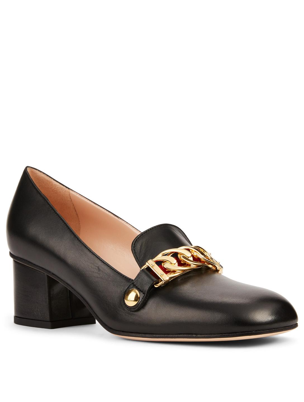 8bc8fdb2188 ... GUCCI Sylvie Classic Leather Pumps Womens Black ...