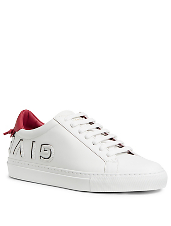 GIVENCHY Urban Street Leather Sneakers Womens White
