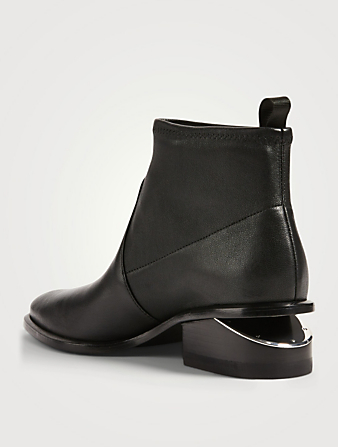 ALEXANDER WANG Kori Stretch Leather Ankle Boots Women's Black
