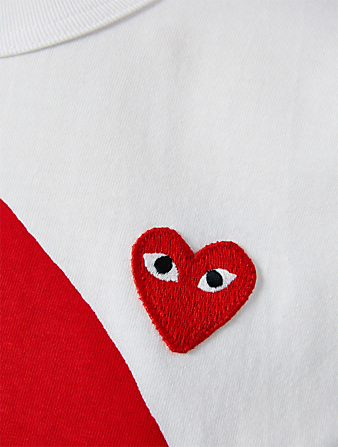 COMME DES GARÇONS PLAY Double Mixed Heart T-Shirt Women's White