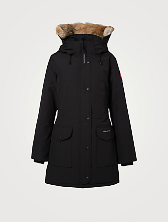CANADA GOOSE Trillium Down Parka With Fur Womens Black