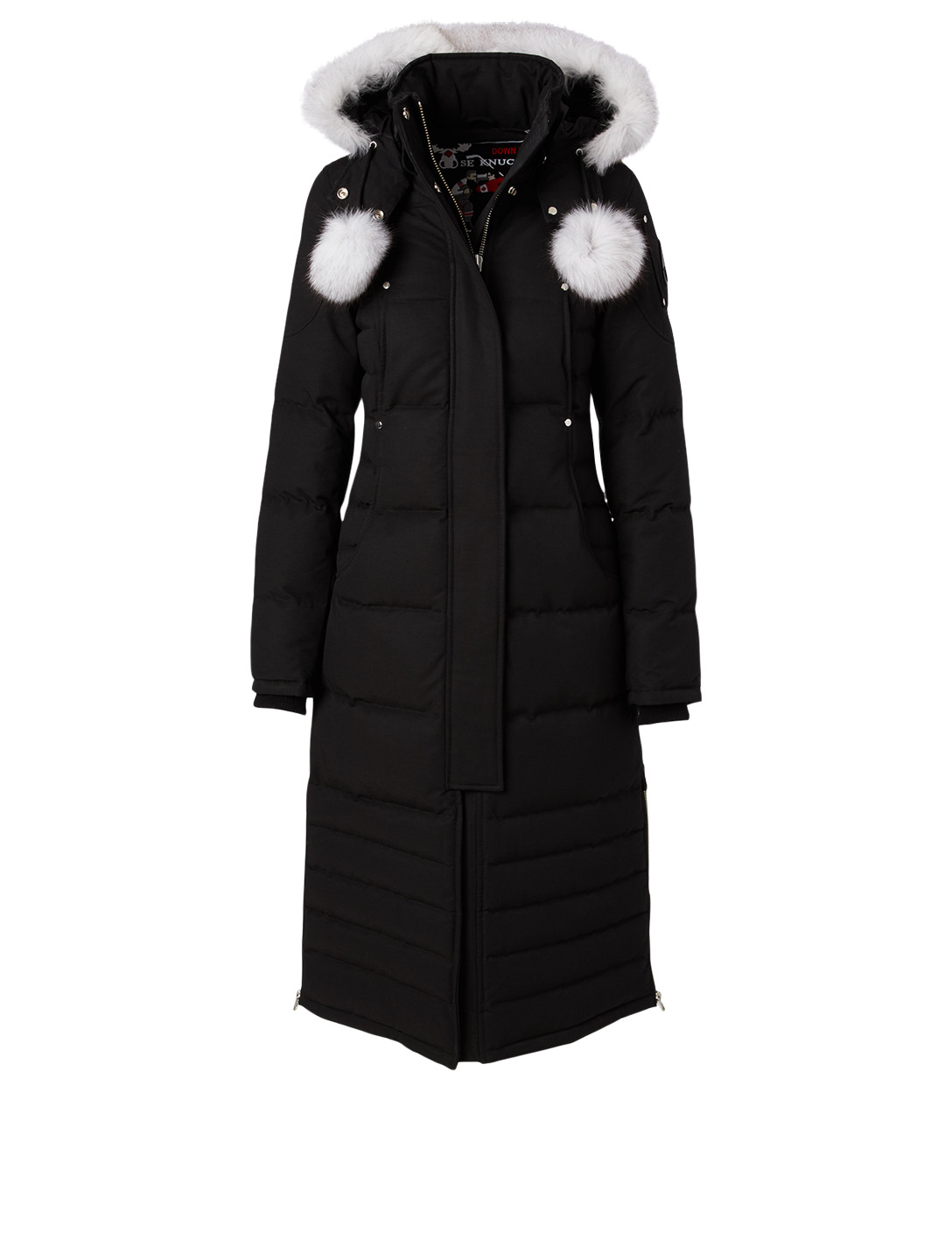 MOOSE KNUCKLES Saskatchewan Down Parka With Fur Hood Women's Black