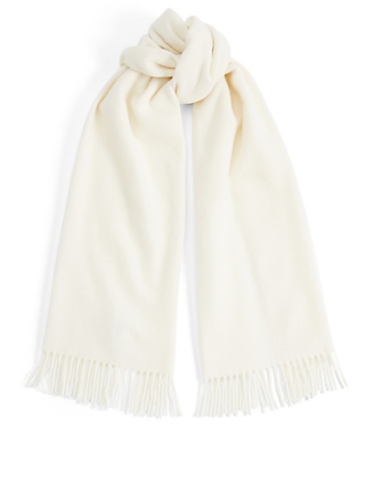 MONCLER Wool Scarf Womens White